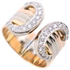 Cartier Wide 2C de Diamond Trinity 18KT Gold Ring